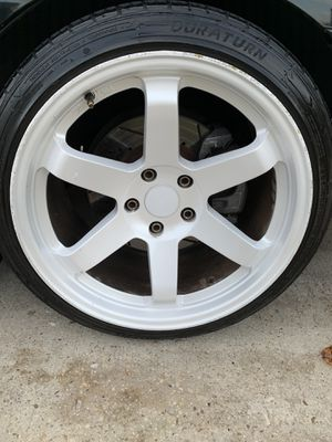 18x9 +25 All around - 225/40/18 tires for Sale in Elkridge, MD