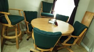 Dining set, table leaf and barstools for Sale in Tarpon Springs, FL
