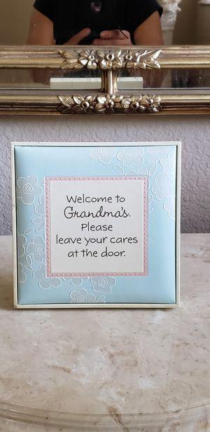 "Grandma's home Decor 6""X 6"" for Sale in Fontana, CA"