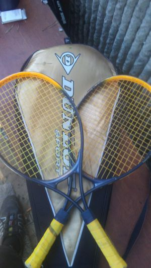 Pair of Dunlop Tennis Rackets with sleeve case..... for Sale in Portland, OR