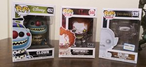 Funko POP Exclusive Pennywise,Gollum, Clown Set for Sale in Peoria, AZ
