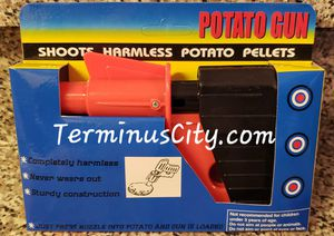 Toy Potato Pellets Gun Plastic Fun Play With Your Food! Kitchen Chef Cook Games. Kids & Adults Harmless Toy Guns for Sale in Kennesaw, GA
