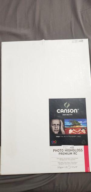 "Canson Photo Highgloss Premium RC 13""x19"" for Sale in Hialeah, FL"