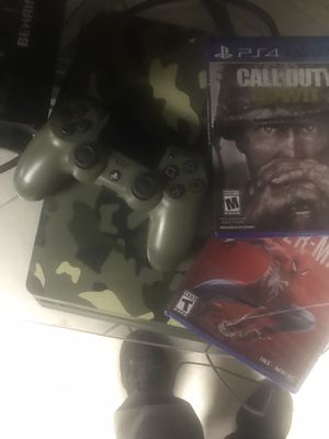 Cod ww II limited edition ps4 with brand new Spider-Man for Sale in Cranston, RI
