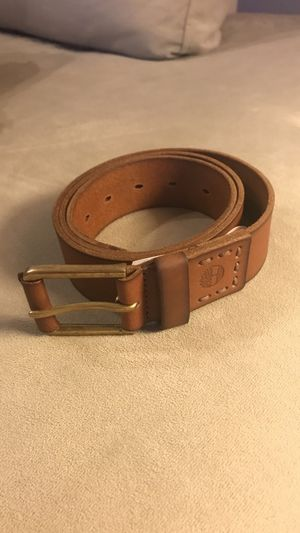 Timberland leather belt with buckle - brown for Sale in Boston, MA