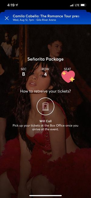 Camila Cabello Meet & Greet Package Arizona 8-12-20 for Sale in Fontana, CA