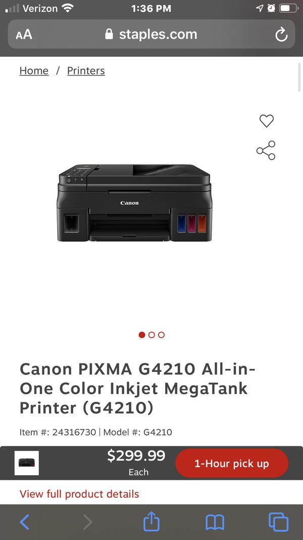 Canon Printer for sale with Brand New ink.