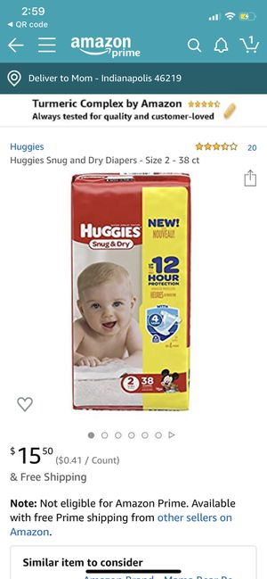 Brand New Never Opened Huggies Snug & Dry 38ct Size 2 for Sale in Indianapolis, IN