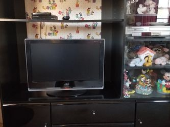 CABINET BLACK LACQUER NO SCRATCHES NICE CONDITION for Sale in Bradbury,  CA