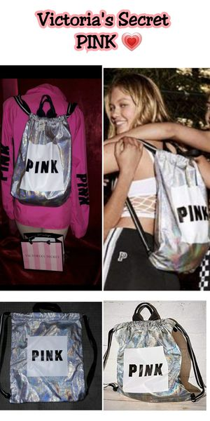 Victoria Secret pink drawstring backpack New With Tags $16 🙅♀️firm no LOWBALLERS 🙅♀️ for Sale in Los Angeles, CA