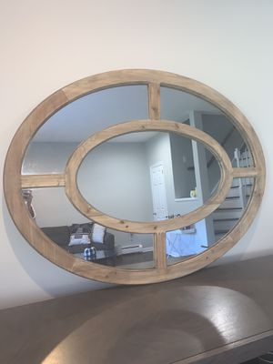 Wood oval mirror for Sale in Morris Plains, NJ