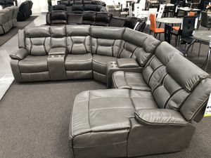 New Reclining Sectional Set. Grey. Free Delivery! for Sale in Los Angeles, CA