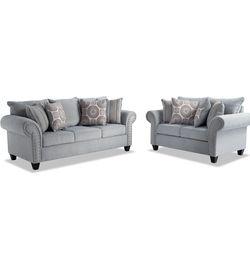 Full sleeper sofa and love seat- Artisan Blue for Sale in Boston,  MA