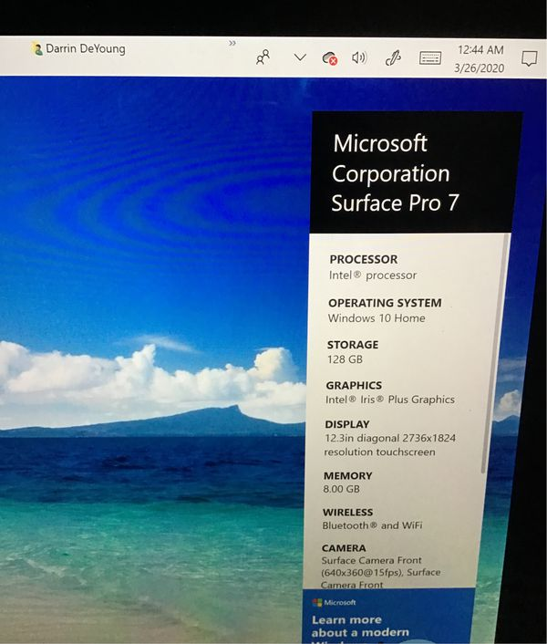 Microsoft serface 7 128gb