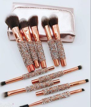 10 piece glitter makeup brushes for Sale in Richmond Heights, OH
