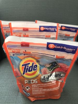 Tide pods - 12 count x 4 for Sale in Kensington, MD