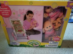 Cabbage patch dolls with double stroller for Sale in Watsontown, PA