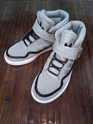 Sz 3 Adidas Adi Rise Mid Gym Shoes basketball Sneaker Patent Leather High Top Boys Youth for Sale in Dearborn, MI
