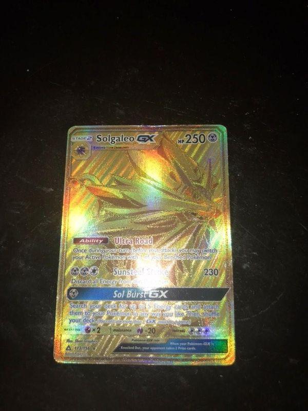 Pokemon card Solgaleo Gx (Secret Rare) 173/156