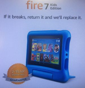 "Fire 7 Kids Edition Tablet, 7"" Display, 16 GB, Blue Kid-Proof Case for Sale in Houston, TX"