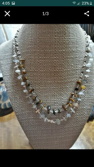 Semiprecious stone chip bead necklace/chokers for Sale in Puyallup, WA