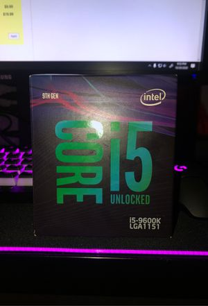 Intel core i5-9600k for Sale in Riverside, CA