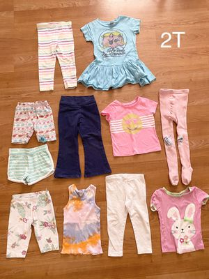 Lot of girl clothes, size 2T, kids pants, shorts, dress, tops, $4 total for everything, see description for Sale in Surprise, AZ