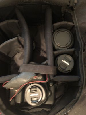 Canon 6d DSLR camera with 3 lenses for Sale in Tampa, FL