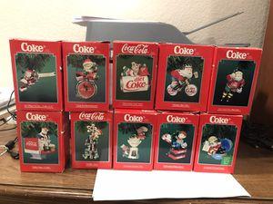 Coca-Cola brand Enesco Ornaments (set of 10) for Sale in Gilbert, AZ