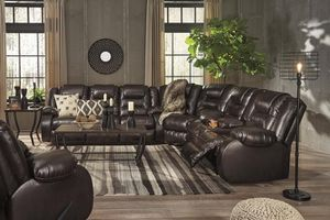 SPECIAL] Vacherie Chocolate Reclining Sectional for Sale in Ellicott City, MD