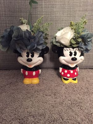 Disney Mickey and Minnie cups/flower pots for Sale in Long Beach, CA