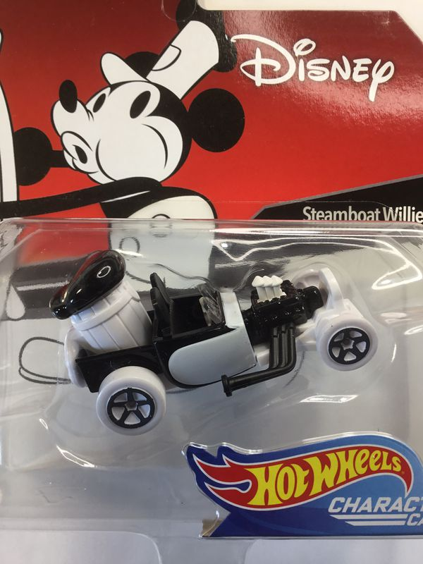HOT WHEELS DISNEY STEAMBOAT WILLIE CHARACTER CAR