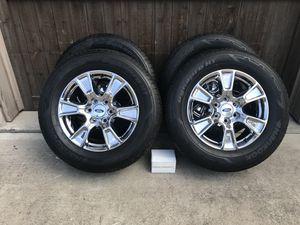 2017 F150 6 lug Chrome Pkg. wheels and rims only 2500 miles on tires. for Sale in Cedar Park, TX