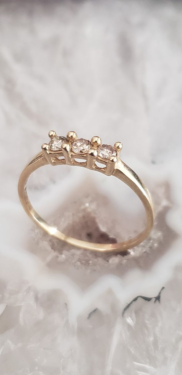 14 k trio wedding ring