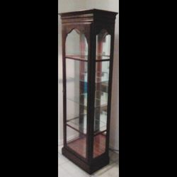 Antique Kling Traditional Style Lit Display Curio Cabinet For Displaying Trophies And Figurines for Sale in Orlando,  FL