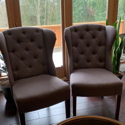 Chairs : Tufted upholstered Wingback Chair for Sale in Bothell,  WA
