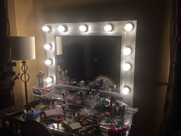 Custom made vanity mirror
