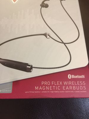 Sharper Image Pro Flex Wireless Magnetic Earbuds Bluetooth Brand New Sealed for Sale in Folsom, CA