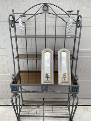 Shelf/ wall mirrors with candle holders for Sale in Bloomington, CA