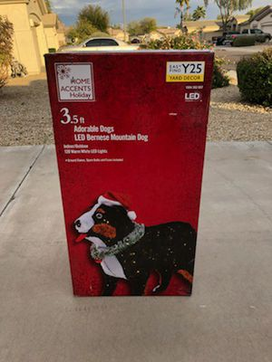 Home Accents Holiday 3.5' Warm White LED Bernese Mountain Dog Yard Decor for Sale in Goodyear, AZ