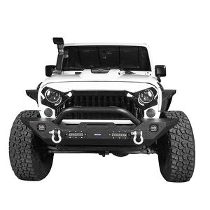 Steel offroad Front Bumper for 07-18 Jeep Wrangler JK & Unlimited w/Winch Plate & 4X LED Lights for Sale in Anaheim, CA