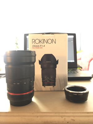 Rokinon 35mm f/1.4 Manual Focus Lens for Sale in San Diego, CA