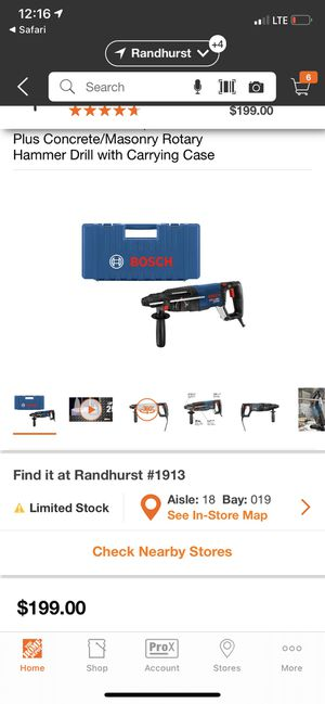 Bosch Bulldog Xtreme 8 Amp 1 in. Corded Variable Speed SDS-Plus Concrete/Masonry Rotary Hammer Drill with Carrying Case for Sale in Mount Prospect, IL
