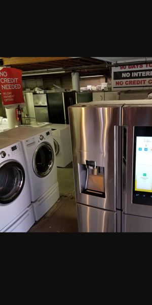 🥀Good condition Works really nice ale pricerefrigerator washer dryer stove stackable+financing available 90 dayswarranty.☔206*503*86*25🌻 for Sale in Seattle, WA