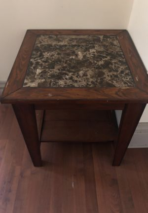 Beautiful wood and dark marble coffee table for Sale in Columbus, OH