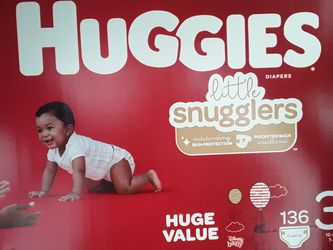 Huggies Diapers, 136 Pack Size 3 for Sale in Bonney Lake,  WA