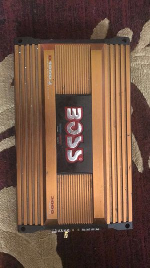 i have 2000 wats boss amp for 65 dollars for Sale in Buffalo, NY