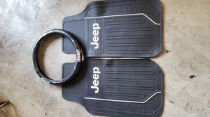 JEEP Mats and steering wheel cover for Sale in Palm Harbor, FL