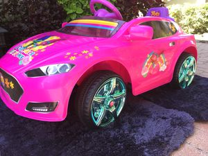 Hot Pink Power Wheels Toy Electric Car Girls Kids Like New for Sale in Pembroke Pines, FL