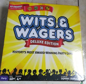 Wits & Wagers Deluxe Board Game. History's most award winning party games. New!! for Sale in North Miami, FL
